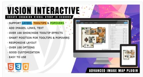 Vision Interactive Image Map Builder for WordPress