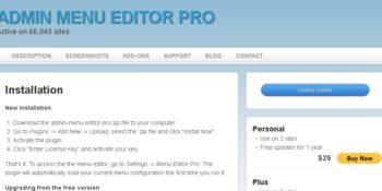 Admin Menu Editor Pro + Addons