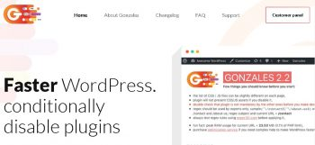 Gonzales Speeding up WordPress with Gonzales plugin