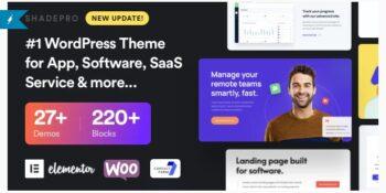 ShadePro - Startup & SaaS WordPress Theme