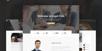 Legal - Law Firm OnePage HTML Template