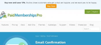 Paid Memberships Pro Email Confirmation