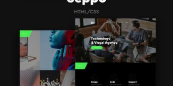 Seppo - One Page Corporate HTML Template