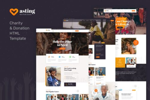 Aasting - HTML Template for Donations and Charity
