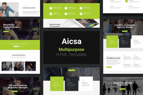 Aicsa - Multipurpose HTML Template