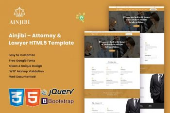 Ainjibi - Lawyer and Lawyer HTML5 Template