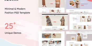 Alohan   Minimalist Fashion PSD Template