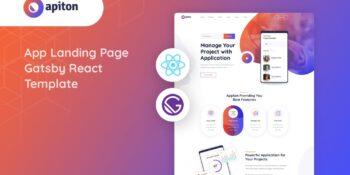 Apiton - Gatsby React App Landing Page Template