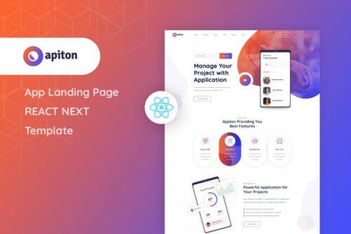 Apiton - React Next App Landing Page Template
