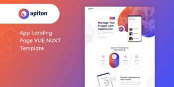 Apiton - Vue Nuxt App Landing Page Template