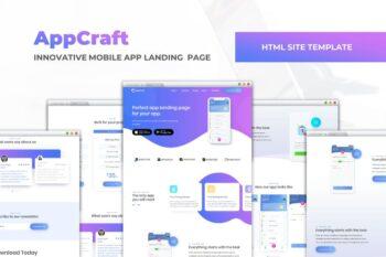 AppCraft - Mobile App Landing Page