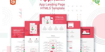 Appraxx - 5-in-1 App Landing HTML5 Template