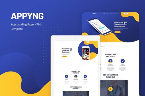 Appyng - App Landing Page HTML Template