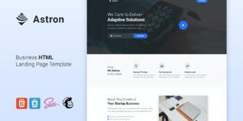 Astron - LeadGen HTML Landing Page Template