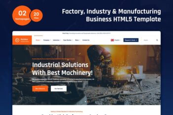 Axima - Factory and Industry HTML5 Template