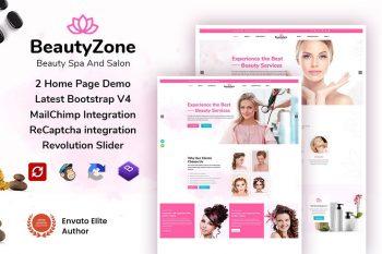 BeautyZone: Beauty Spa Salon & Massage Template