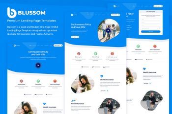Blussom Insurance Service Landing Page Template