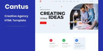 Cantus - One Page Agency HTML Template