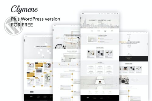 Clymene - Creative Multifunction HTML Template + WP