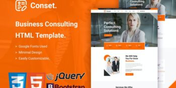 Conset - Business Consulting HTML5 Template