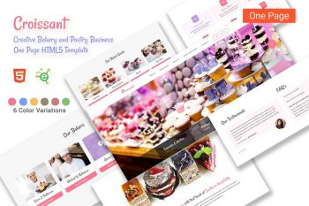 Croissant - Bakery and Pastry HTML5 Template