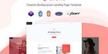 Crone - Multipurpose Landing Page Template