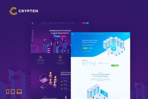 Crypten - Cryptocurrency and ICO HTML Template