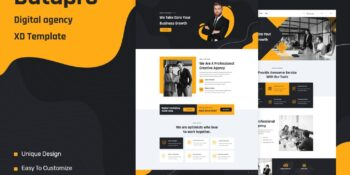 Datapro - One Page Agency HTML Template