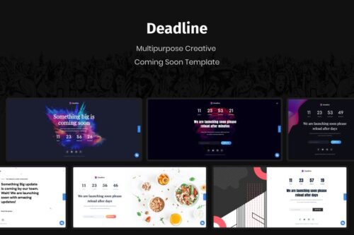Deadline - React Coming Soon Templates
