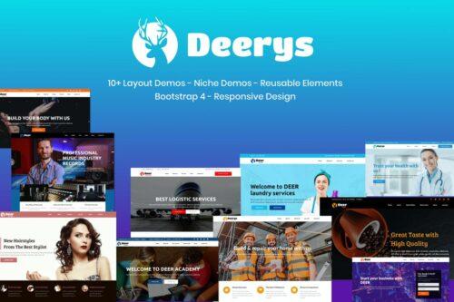 Deerys - Responsive Multi-Purpose HTML Template