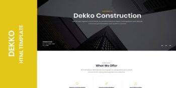 Dekko - Construction HTML5 Template