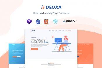 Deoxa - React Landing Page Template