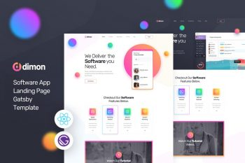 Dimon - Gatsby React App Landing Page Template