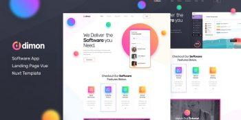 Dimon - Vue Nuxt Software App Landing Page
