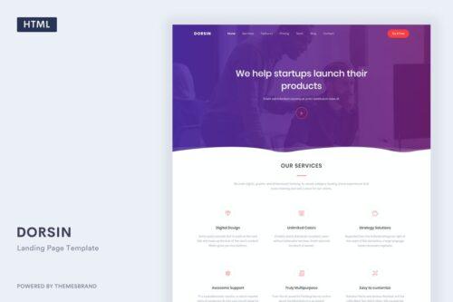 Dorsin - Landing Page Template
