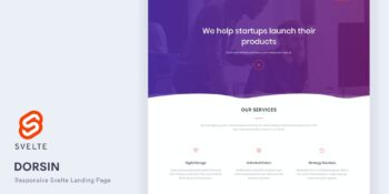 Dorsin - Svelte Landing Page Template
