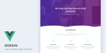 Dorsin - VueJs Landing Page Template