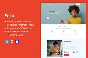 Erika - Portfolio, CV And Resume HTML Template