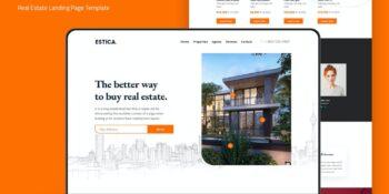 Estica - Real Estate Landing Page Template