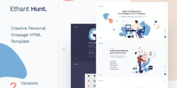 Ethant Hunt - Personal HTML Onepage Template