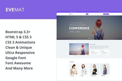 EveMat Responsive HTML event template