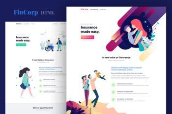 FinCorp - Finance, Insurance & Marketing Template