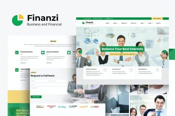 Finanzi - HTML Template for Finance and Business