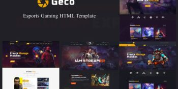 Geco - HTML5 template for eSports games