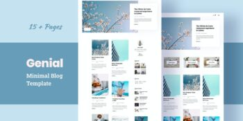 Genial - Minimal Blog HTML Template