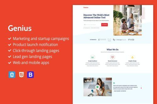 Genius - Premium HTML Landing Page Template