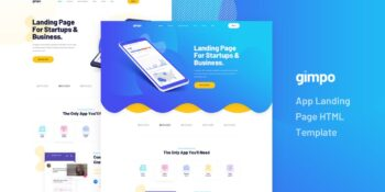 Gimpo - App Landing Page HTML Template