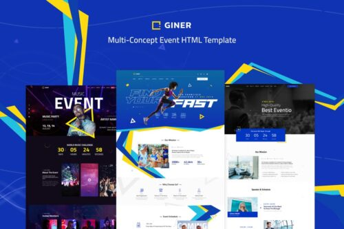 Giner Multi-Concept Event HTML Template