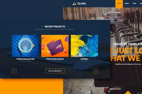 Graffy - Responsive Multi-Purpose Flat Template