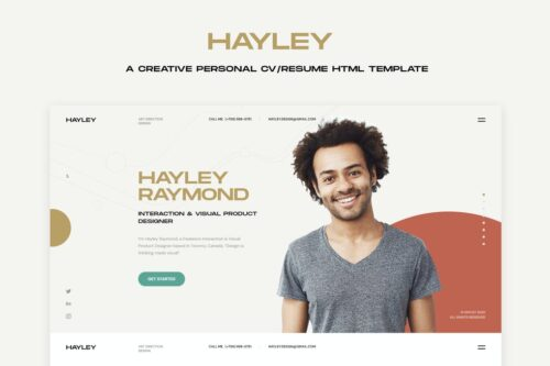 HAILEY - Creative Personal CVResume HTML Template